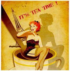 É hora do chá!