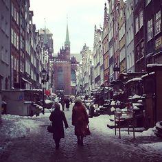 Ulica #Mariacka zimą / Mariacka Street in #winter, #Gdansk
