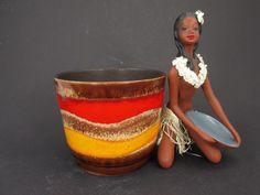 Vintage Blumentopf / Übertopf von Scheurich / Modell 806 14 | West German Pottery | 60er von ShabbRockRepublic auf Etsy