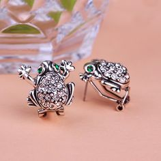 Frog Animal Silver Leather Jewelry Earring Ear Piercing Brincos Grands Aretes Punk Jewelry Perfumes For Women Men Violetta uk Only $15.16 => Save up to 60% and Free Shipping => Order Now! #Ring #Jewelry #woman #fashion