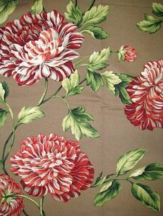 """Charlotte Lacquer.  Waverly Fabric 100% cotton up the roll 25"""" repeat Williamsburg Floral print. 673400 54"""" wide."""