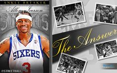 Allen Iverson NBA Sixers basketball wallpaper on @Streetball - Allen Iverson recently announced his retirement. Best of luck fam. You always got a home at STREETBALL.COM