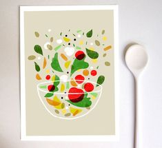 "La verdura print - Vegetable art 11""x15 - archival fine art giclée print"