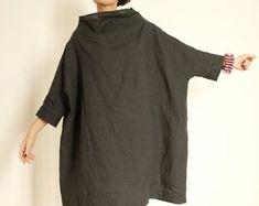Linen Dress Plus Size Clothing Linen Tunic Linen Womens