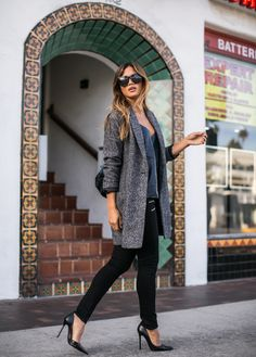 Backpack by Simone Camille Blazer by Love Stitch Clothing Leather cami by Cami NYC Jeans by Paige denim Shoes by Zara Arm cuff by Arrow Divine Sunglasses by Anine Bing Photos…