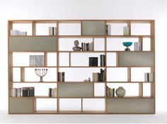 Double-sided bookcase with drawers PASSWORD by Riva 1920