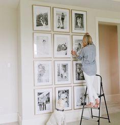 Family gallery wall from Framebridge