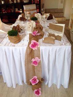 Výzdoba svatebního stolu - juta, kde ji seženu? - ...