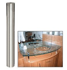 """CRL Brushed Stainless Standoff Base 3/4"""" Diameter by 6"""" Long by C.R. Laurence. $23.04. For 3/4"""" Diameter Standoff Mounting Options please, click here . Infinite Design Options Including Signage, Furniture and Retail Display Available in Many Distinct Finishes to Accommodate Any Project Requirement Accomplish Your Design Objective by Choosing From a variety Different Lengths In display or furniture manufacturing, the innovative design achieves maximum exposure and at..."""