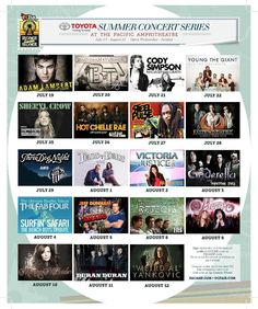 The OC County Fair 2012 Summer Concert Lineup