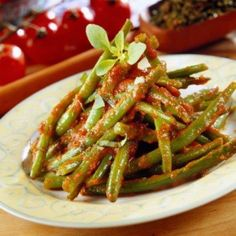 Greek Green Beans In Tomato Sauce (Fasolakia) Recipe ...