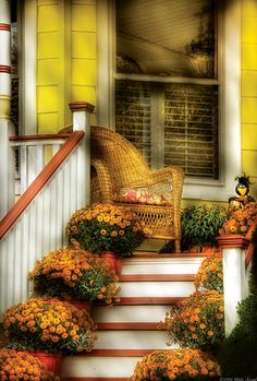 Porch-In The Light Of Autumn- by Michael Savad