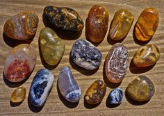 Some of the beach agates I have found this year at Port Orford's Paradise Point Beach here in the southern Oregon coast's Curry County.