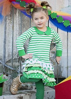5f32b4fd0d9d Little Girls St Patricks Day Shirt Dress St by SweetEmiliaBoutique St  Patrick's Day Outfit, Outfit