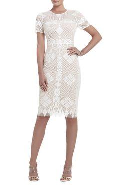 BCBGMAXAZRIA Samara Engineered-Lace Sheath Dress on shopstyle.com