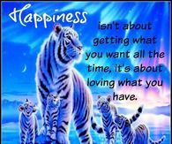 Happiness Isn't About Getting What You Want It;s Loving What You Have