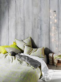 Neon Check Duvet Cover Set   Aura at Maison Simons. #bedroom #decor #cozy
