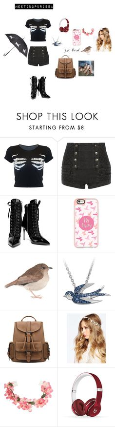 """""""MeetingPurissa"""" by rarelee ❤ liked on Polyvore featuring Pierre Balmain, Giuseppe Zanotti, Casetify, ASOS, Miss Selfridge and Beats by Dr. Dre"""