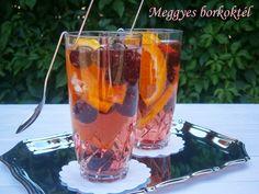 Meggyes borkoktél Pint Glass, Alcoholic Drinks, Wine, Tableware, Food, Dinnerware, Beer Glassware, Tablewares, Essen