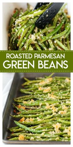Roasted Parmesan Green Beans- delicious fresh green beans are roasted with a cru. Roasted Parmesan Green Beans- delicious fresh green beans are roasted with a crunchy mixture of par Veggie Dishes, Food Dishes, Christmas Vegetable Dishes, Vegetarian Side Dishes, Easy Vegetable Side Dishes, Easy Side Dishes, Low Carb Side Dishes, Christmas Dishes, Vegetarian Recipes Green Beans