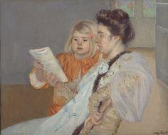 """""""The Reading Lesson"""", c. 1901 / Mary Cassatt / Dallas Museum of Art, Dallas, Texas, USA"""