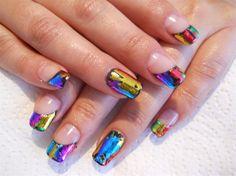Magnetic Gel Tips with Foil! by NailsbyAnita - Nail Art Gallery nailartgallery.nailsmag.com by Nails Magazine www.nailsmag.com #nailart
