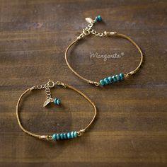 Jewelry Crafts, Jewelry Art, Jewelry Bracelets, Jewelery, Fashion Jewelry, Jewelry Design, Handmade Leather Jewelry, Handmade Accessories, Handcrafted Jewelry