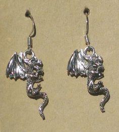 Dragon Earrings by tribeofthefaefolk on Etsy