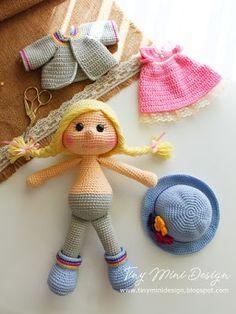 Amigurumi Tini Mini Kız Yapılışı-Free Pattern Tini Mini Dolls - Tiny Mini Design Knitting ProjectsKnitting For KidsCrochet PatternsCrochet Bag # Lion Crochet, Crochet Bird Patterns, Crochet Patterns Amigurumi, Baby Knitting Patterns, Crochet Dolls, Knitting Toys, Mini Amigurumi, Amigurumi Free, Amigurumi Doll