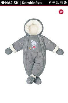 Zimná kombinéza New Baby Winter sivá Baby Winter, Canada Goose Jackets, New Baby Products, Winter Jackets, Winter Coats, Winter Vest Outfits