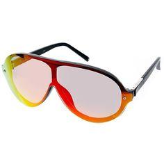 9ff276279c8e Shop Linda Farrow For Phillip Lim Flash Sunset Visor Sunglasses at ASOS.