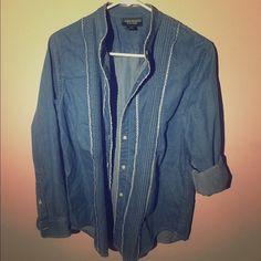 Lauren Jeans Co ralph chambray shirt size 6 Tops Button Down Shirts