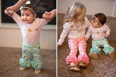 Cute kids clothes! These gold foil ruffle pants are simply adorable! They're soft and stretchy and come in six lovely colors. Pick your favorite at pickyourplum.com