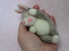 Needle Felted Animal Needle Felting Wool BUNNY Class in PDF files (Companion kit available and sold separately). $45.00, via Etsy.