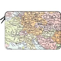 Macbook Sleeve - European tour ($60) ❤ liked on Polyvore featuring accessories, tech accessories, tech and macbook sleeve