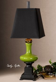 Love this Lime Green Uttermost lamp!