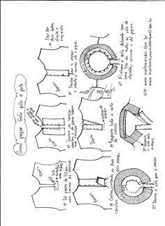 7c01670562 Esquema de montagem da gola pólo e pate. Daniellen · molde