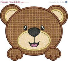 SALE 65 OFF Cute Baby Bear Face Applique by embroiderydesignsavi, $1.05