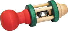 Heirloom Standard Bell Rattle -Made in USA-classic wooden toy  #MontgomeryShoolhouse #woodentoy
