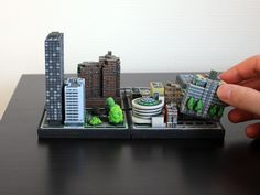 3D printed itty blox - design your own city block.
