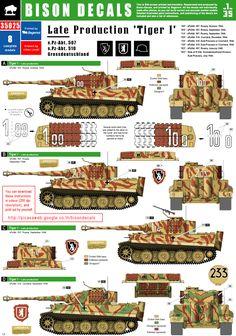 Tiger I, sPzAbt 507 / 510 / Grossdeutschland - Late Mix 1, Bison Decals - | Kettenfahrzeug, Militär, Bemalung, Tarnung