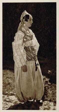 Amazon.com - 1926 Serbian Women National Folk Costume Prizren Serbia - Original Photogravure