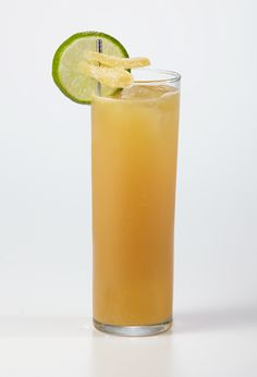 DARK AND PEACHY  1 oz Alizé COCO Peach  1 oz Dark Bermuda Rum  1 oz Lime Juice Top with Ginger Beer  Shake, strain into highball glass on ice, top with ginger beer, garnish with a lime wedge and candied ginger.