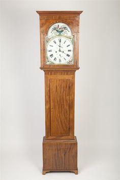 Georgian Mahogany Tall Case Clock  #antiques #clock   www.linkauctiongalleries.com Georgian, Auction, Clock, Detail, Antiques, Furniture, Home Decor, Watch, Homemade Home Decor