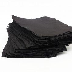 Handgeschöpftes Papier in Schwarz. Sie können einzelne Papierbogen bestelle oder ein Set. Fashion, Paper, Black, Moda, Fashion Styles, Fasion