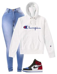 """""""Untitled #115"""" by explorer-123 on Polyvore featuring NIKE and Champion"""