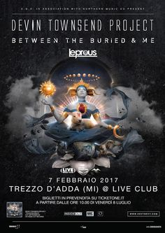 EVENTS: DEVIN TOWNSEND PROJECT + BETWEEN THE BURIED AND ME + LEPROUS @ LIVE CLUB (MI)