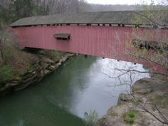 Narrows Covered Bridge in Turkey Run State Park; Marshall, IN