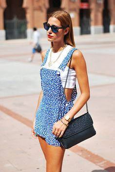 Flowered Overall ( Tanks & Jumpsuits )
