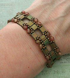 Linda's Crafty Inspirations: Tila Squared Bracelet & Layered Tila Earrings - Rosaline
